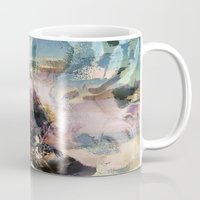novelty Mugs featuring Morning Seashore Abstract by Moody Muse