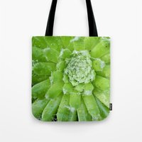 succulent Tote Bags featuring Succulent by constarlation