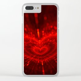 Cupid's Arrows | Valentines Day | Love Red Black Heart Texture Pattern Clear iPhone Case