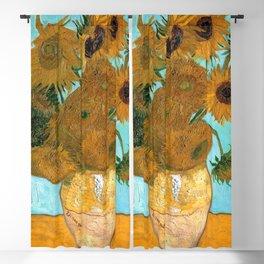 Vincent van Gogh - Still Life Vase with Twelve Sunflowers Blackout Curtain
