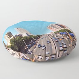 The City Streets (Color) Floor Pillow
