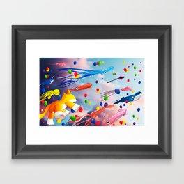 Flying Away Framed Art Print