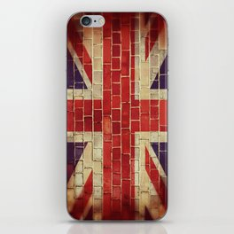 Vintage UK flag iPhone Skin