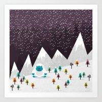 yeti Art Prints featuring Yeti by Kakel