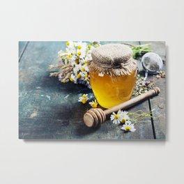 Honey and Herbal tea Metal Print