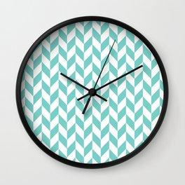 Tiffany Herringbone Pattern Wall Clock