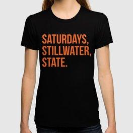 Saturday, Stillwater, State T-shirt