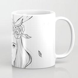 The Girl with Antlers Coffee Mug