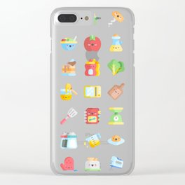 CUTE COOKING PATTERN Clear iPhone Case