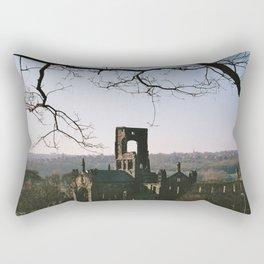 Kirkstall Abbey from the hill... Rectangular Pillow
