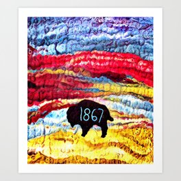 1867 Cheyenne Art Print