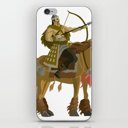 mongolian rider archer with bow and arrow calvary iPhone Skin