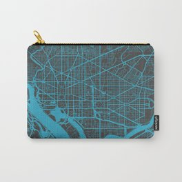 Washington map blue Carry-All Pouch