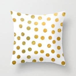 NL 8 4 Gold Polka Dots Throw Pillow