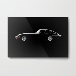 The Black E-Type Metal Print