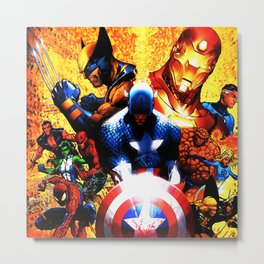 hero all Metal Print