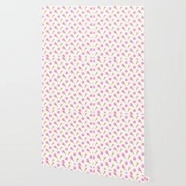 Floral Cones Pattern Wallpaper