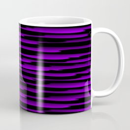 Horizontal dark curved stripes with imitation of the bark of a violet tree trunk. Coffee Mug