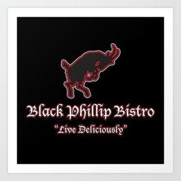 Black Phillip Bistro Art Print