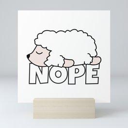 Nope Sheep Mini Art Print
