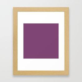 Grape Kiss Purple   Solid COlour Framed Art Print