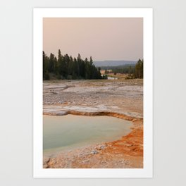 Yellowstone Evening Art Print