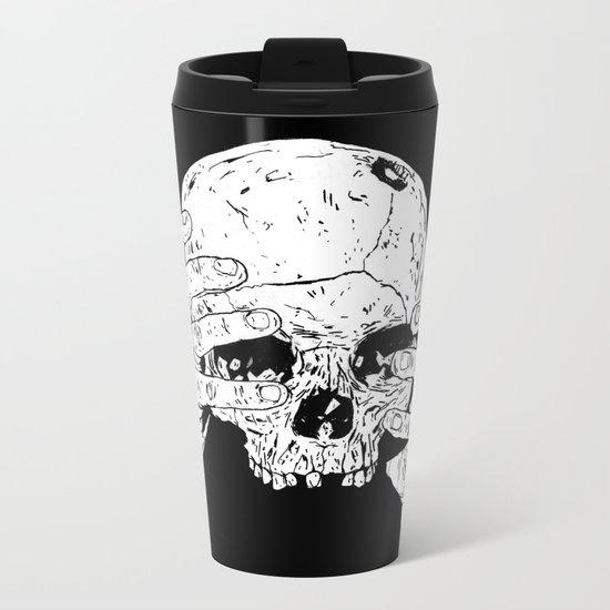 Skull In Hands Metal Travel Mug