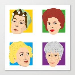Coronation Street - Hilda, Elsie, Annie and Blanche Canvas Print