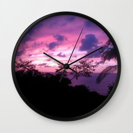 Mexican Sunset Wall Clock