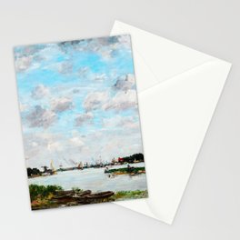 The Meuse near Dordrecht - Digital Remastered Edition Stationery Cards