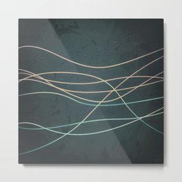 Abstract Lines 1 Metal Print