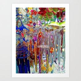 Artsy Wind Chimes #3 Art Print