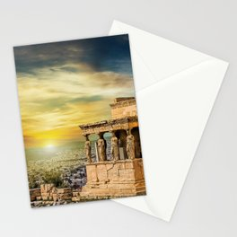 The Caryatids of Acropolis in Athens, Greece Stationery Cards