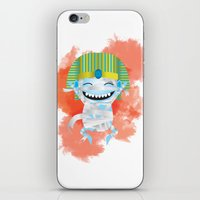 kiki iPhone & iPod Skins featuring King KiKi by Unknown Illustration