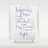 snape Shower Curtains featuring Happiness can be found by Earthlightened