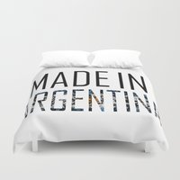 argentina Duvet Covers featuring Made In Argentina by VirgoSpice