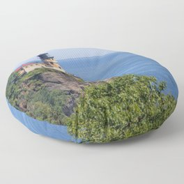 Split Rock Lighthouse Floor Pillow