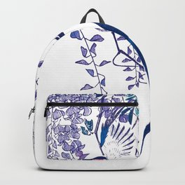 Swallow and Wisteria Backpack