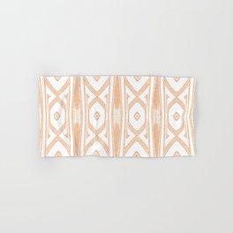 Velvety Tribal Shield in Peach Hand & Bath Towel