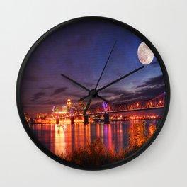 Along The Ohio River Wall Clock
