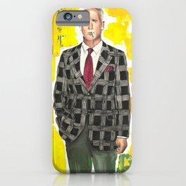 Roger Sterling Minimalist TV Poster, Drawings Icon Portrait, Minimalist Wall Art Decor, Nursery Art, Mad Men Tv Print iPhone Case