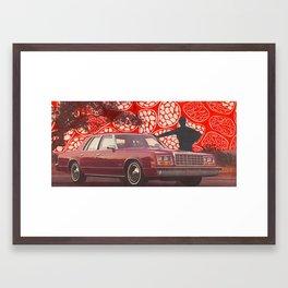 Suburb Silhouette Framed Art Print