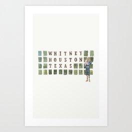 Whitney Houston, Texas Art Print