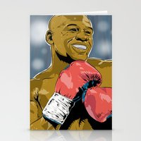 floyd Stationery Cards featuring Floyd Mayweather by Averagejoeart