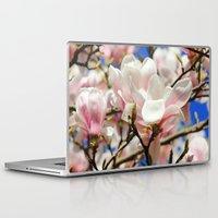 magnolia Laptop & iPad Skins featuring  Magnolia. by Assiyam