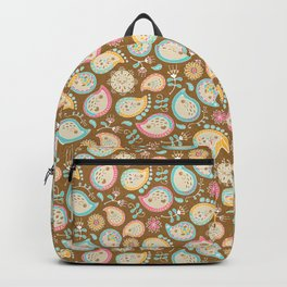 Hedgehog Paisley - Colors and Cocoa Backpack