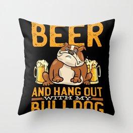 Bulldog English Bulldog Bulldogs Throw Pillow