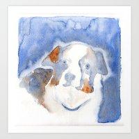 belle Art Prints featuring Belle by KAZUMI