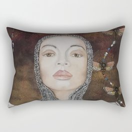 woman with armor Rectangular Pillow