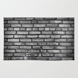 Black and white brick wal Rug